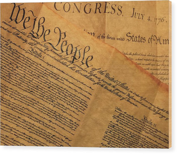 We The People United States Constitution - Wood Print from Wallasso - The Wall Art Superstore