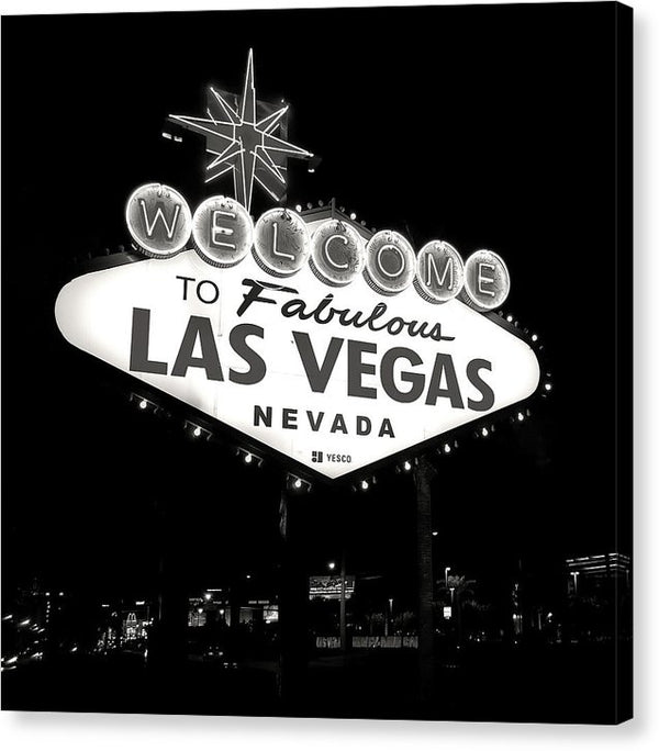 Welcome To Fabulous Las Vegas Nevada Sign - Canvas Print from Wallasso - The Wall Art Superstore