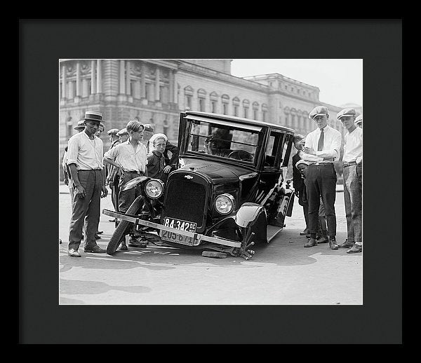 Wheels Fall off Antique Car - Framed Print from Wallasso - The Wall Art Superstore