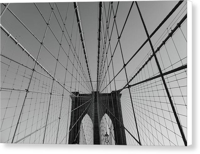 Wire Patterns of The Brooklyn Bridge - Canvas Print from Wallasso - The Wall Art Superstore