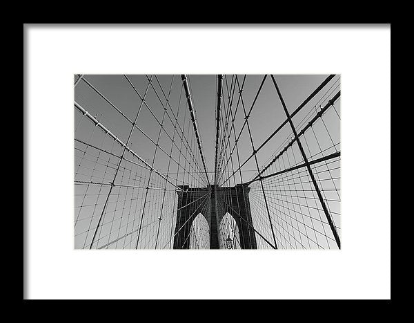 Wire Patterns of The Brooklyn Bridge - Framed Print from Wallasso - The Wall Art Superstore