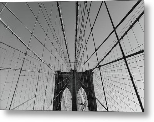 Wire Patterns of The Brooklyn Bridge - Metal Print from Wallasso - The Wall Art Superstore