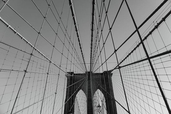 Wire Patterns of The Brooklyn Bridge - Art Print from Wallasso - The Wall Art Superstore