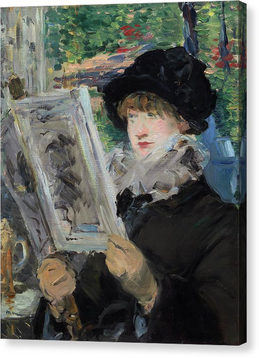 Woman Reading by Edouard Manet, 1879 - Canvas Print from Wallasso - The Wall Art Superstore