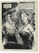 Woman Says No To Marriage Proposal, Vintage Comic Book - Wood Print from Wallasso - The Wall Art Superstore