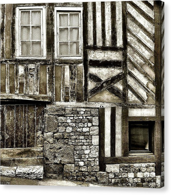 Wood Cottage Wall With Lots of Texture - Canvas Print from Wallasso - The Wall Art Superstore