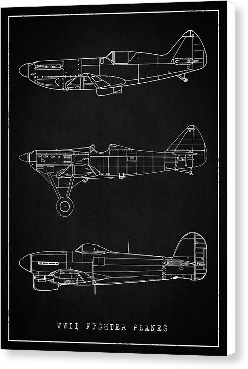 WWII Fighter Plane Designs - Canvas Print from Wallasso - The Wall Art Superstore