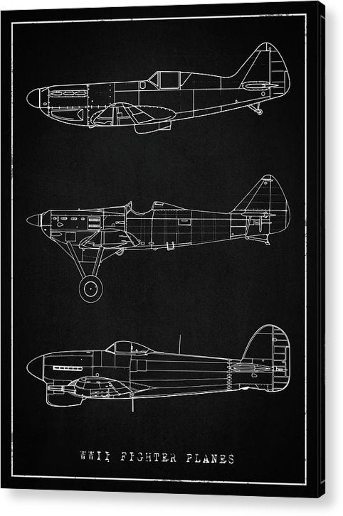 WWII Fighter Plane Designs - Acrylic Print from Wallasso - The Wall Art Superstore