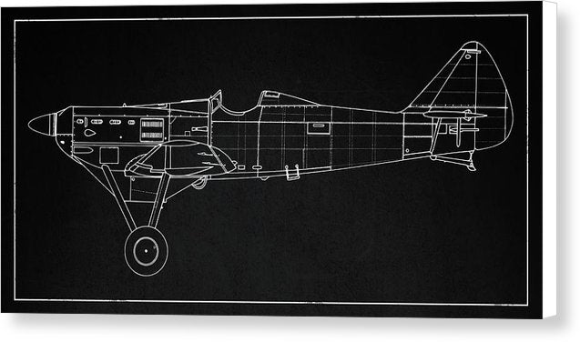 WWII Plane Design - Canvas Print from Wallasso - The Wall Art Superstore