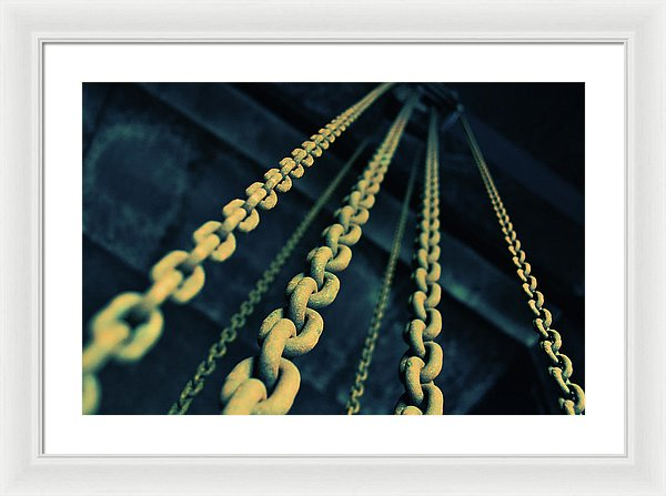 Yellow Industrial Chains - Framed Print from Wallasso - The Wall Art Superstore