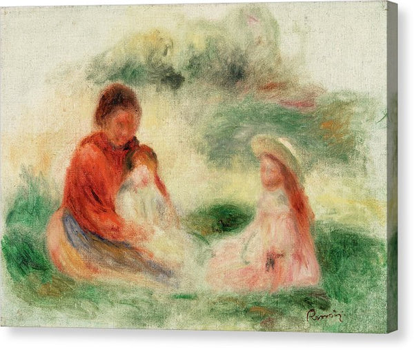 Young Family by Pierre-auguste Renoir, 1902 - Canvas Print from Wallasso - The Wall Art Superstore
