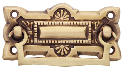 Hepplewhite Brass Drawer Pull - Antique Brass