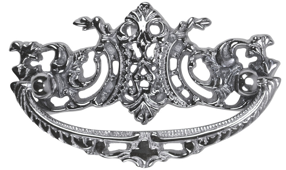 Louis XV Furniture Hardware in Polished Chrome