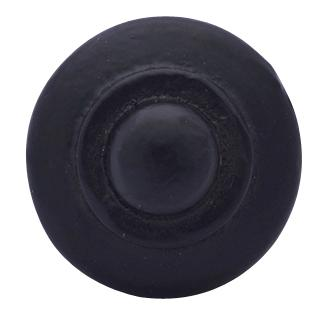 Arts and Crafts and Craftsman Style Hardware - Iron Round Button Knob (Matte Black)
