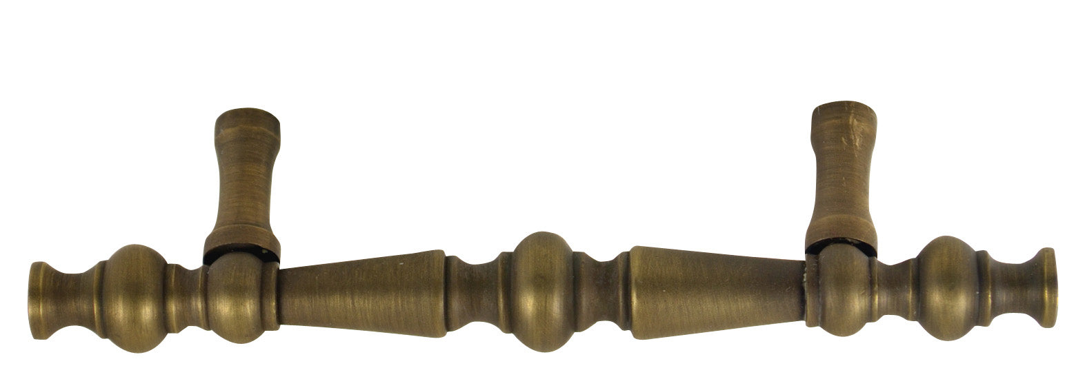 Colonial Style Hardware - Brass Cabinet Pull (Weathered Brass)