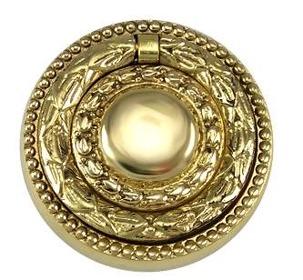 Hepplewhite - Regency Ring Pull in Polished Brass