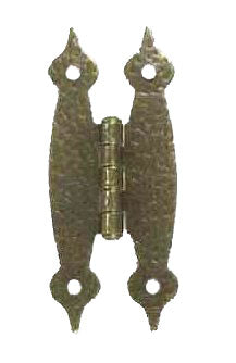 Colonial Hardware - Hammered Antique Brass Hinge