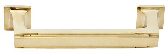 Arts and Crafts and Craftsman Style Hardware - Solid Brass Pull (Polished Brass)
