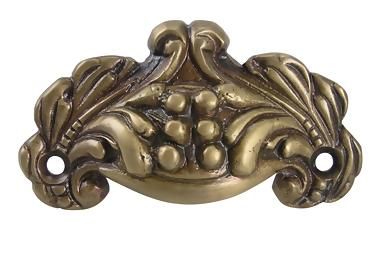 Antique Brass Victorian Cup Pull