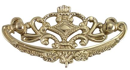 Louis XV Furniture Hardware in Polished Brass