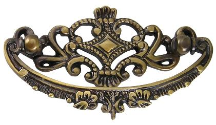 Louis XV Furniture Hardware in Antique Brass