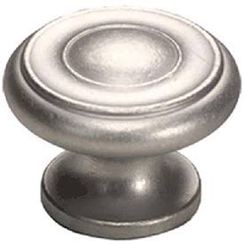 1 1/2 Inch Colonial Round Knob (Distressed Nickel Finish)