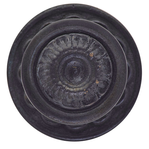 1 1/2 Inch Ornate Floral Brass Knob (Oil-Rubbed Bronze Finish)