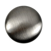 1 1/2 Inch Pure Brass Traditional Round Knob (Antique Nickel Finish)