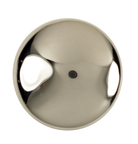 1 1/2 Inch Pure Brass Traditional Round Knob (Polished Nickel Finish)