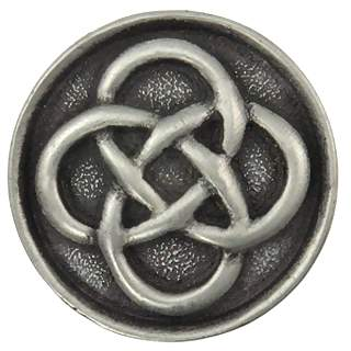1 1/2 Inch Solid Pewter Celtic Josephine Knob (Matte Pewter Finish)
