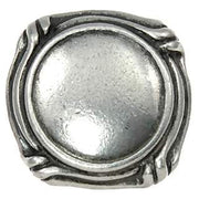 1 1/2 Inch  Ocean Seaside Nautical Solid Pewter Knob (Pewter Bright Finish)