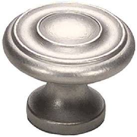 1 1/4 Inch Colonial Round Knob (Distressed Nickel Finish)