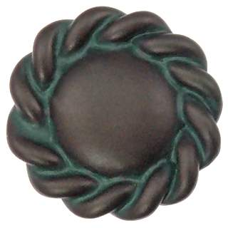 1 1/5 Inch English Cottage Solid Pewter Roguery Knob (Bronze Verde)