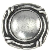 1 1/8 Inch  Ocean Seaside Nautical Solid Pewter Knob (Pewter Bright)