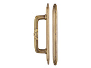 10 1/2 Inch Art Deco Style Door Pull and Push Plate Set (Antique Brass Finish)