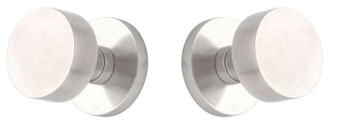 Cast Stainless Steel Round Door Knob with Round Plate