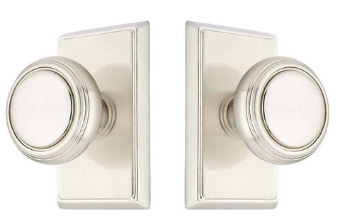 Emtek 820NW Norwich Classic Brass Door Knobset Satin Nickel Knobset