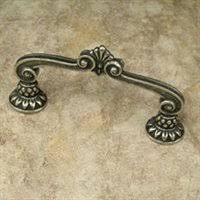 2 Inch (3 Inch c-c) Corinthia Straight Cabinet Pull (Pewter With Bronze Wash Finish)