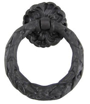 Solid Brass French Floral Drawer Ring Pull (Oil Rubbed Bronze)