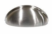 Big Sale: 3 1/2 Inch Cup Pull with Beveled Top (Brushed Nickel Finish)