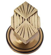 Solid Brass Art Deco Fanfare Door Knob Set