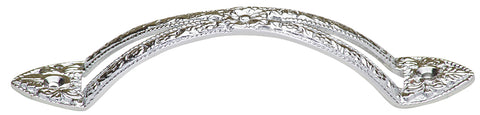 5 7/8 Inch Flowery Unique Pull Handle (Polished Chrome Finish)