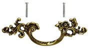 "6 1/2 Inch (3.125"" c-c) Filigrees Rococo Pull (Antique Brass Finish)"