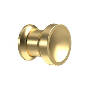 1 Inch Solid Brass Contemporary Chalice Cabinet & Furniture Knob (Several Finishes Available)