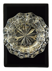 Regency Crystal Door Knob Solid Brass Traditional Plate (Several Finishes Available)