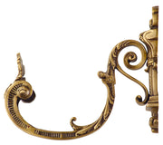8 Inch Filigree Leaf Curtain Pull (Antique Brass Finish)