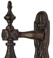 Large Ornate 9 1/2 Inch Old World Style Door Pull & Plate Oil-Rubbed Bronze Finish