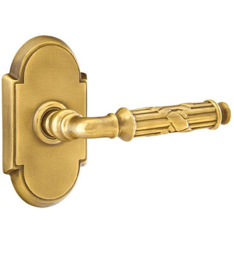 Solid Brass Ribbon & Reed Lever With # 8 Rosette
