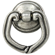 2 Inch Solid Pewter Mai Oui Pull (Bright Pewter Finish)
