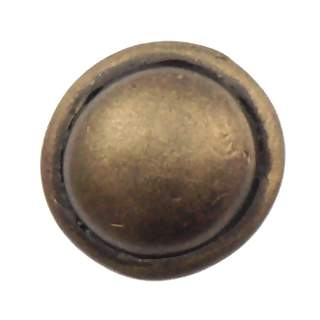 3/4 Inch Solid Pewter Button Style Knob (Rubbed Bronze Finish)